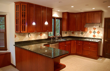 Kitchen With Black Galaxy Countetop